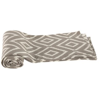 Cotton Cashmere Brown Diamond Patterned 50 x 60-inch Throw