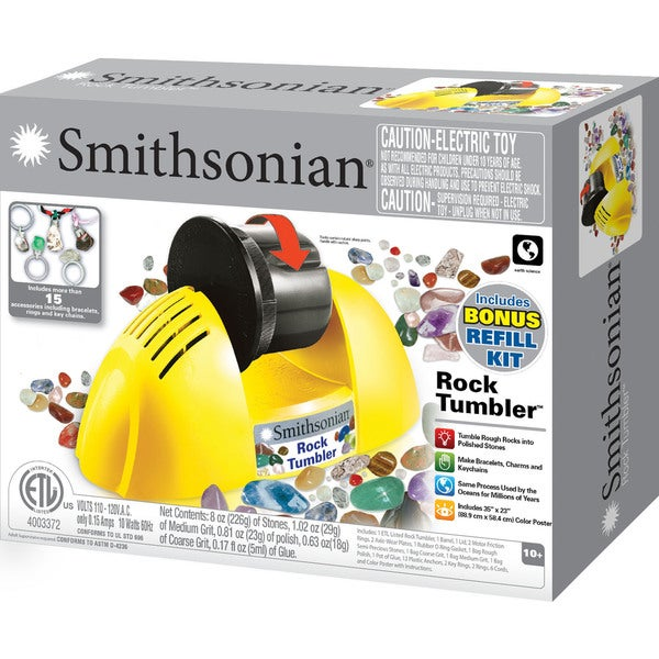 Smithsonian Rock Tumbler Classic With Bonus Refill