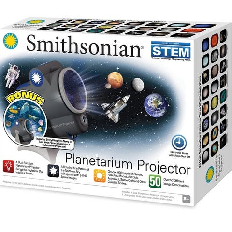 Smithsonian Planetarium Projector with Bonus Sea Pack - Black