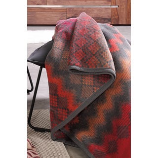 Sorrento Vintage Zigzag Oversized Throw Blanket