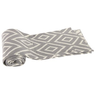 Cotton Cashmere Grey Diamond Patterned 50 x 60-inch Throw