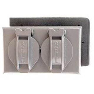 Bell Outdoor 5180-5 Grey Single Gang Weatherproof Duplex Box Cover