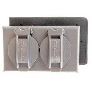 Bell Outdoor 5180-6 White Single Gang Weatherproof Duplex Box Cover