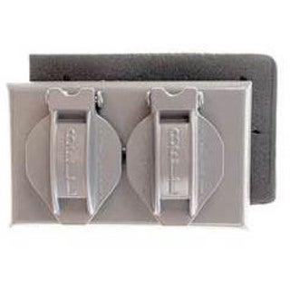 Bell Outdoor 5180-0 Grey Single Gang Weatherproof Duplex Box Cover