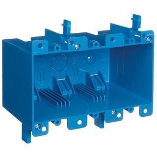 Carlon 5-3/4 in. H Rectangle 3 Gang Outlet Box Blue PVC