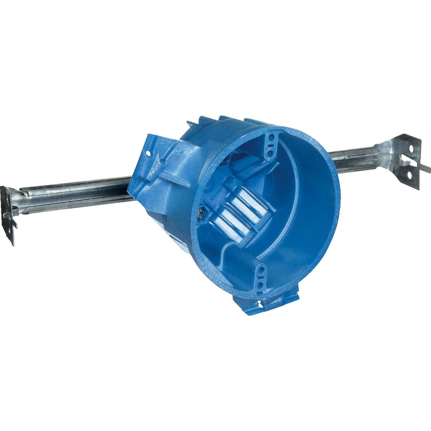 Carlon 3-5/8 in. H Round 1 Gang Electrical Box Blue PVC (...