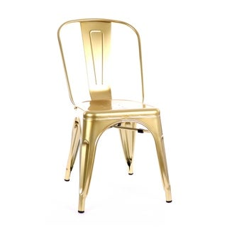Amalfi Chrome Gold Steel Side Chair (Set of 4)