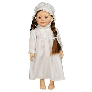 Little House 18 In Doll Clothes White Cotton Night Gown PJ's, Night Cap