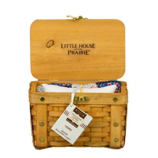 "Little House on the Prairie Basket, Pillow & Quilt Set for 18"" Dolls"