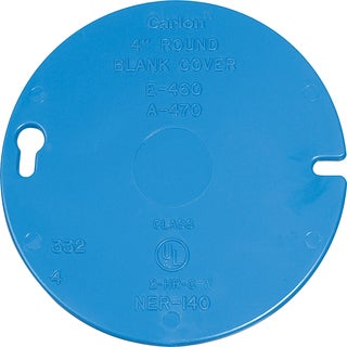 "Carlon Lamson & Sessons E460R-CAR 4"" Round Blank Box Cover"