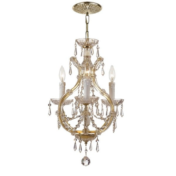 Crystorama Maria Theresa Collection 4-light Gold Mini Chandelier