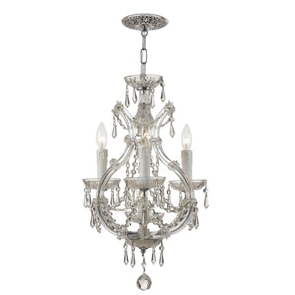 Crystorama Maria Theresa Collection 4-light Polished Chrome Mini Chandelier