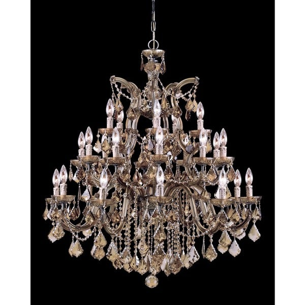 Crystorama Maria Theresa Collection 26-light Antique Brass Chandelier