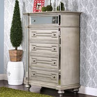 Marisalla Contemporary Champagne 5-drawer Chest by FOA