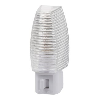 "Amertac 71053 3.355"" X 1.375"" X 2.25"" White Clear Prism Night Light"