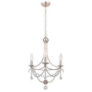 Crystorama Metro Collection 3-light Antique Silver Chandelier