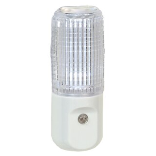 "Amertac 71107CC 4.875"" X 1.375"" X 2"" White Clear Lens LED Night Light"