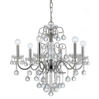 Crystorama Imperial Collection 6-light Polished Chrome Chandelier