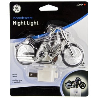 GE Jasco 10904 Incandescent Motorcycle Night Light