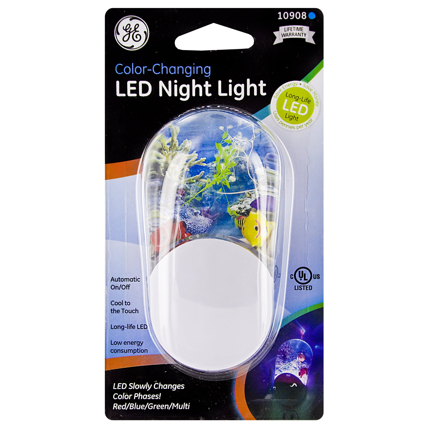 GE Jasco 10908 Color Changing LED Night Light (Lights), W...