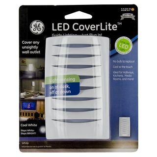 GE Jasco 11217 White LED Coverlite Night Light