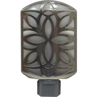 GE Jasco 11314 Brushed Nickel LED Petals Automatic Night Light