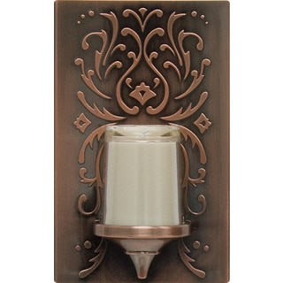GE Jasco 11258 Bronze Plastic LED Candle Night Light With Auto On/Off