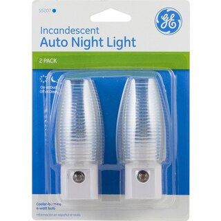 GE Lighting 55207-11392 Incandescent Auto Night Light 2-count