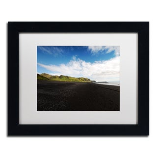 Philippe Sainte-Laudy 'Walking on the Black Beach' Matted Framed Art