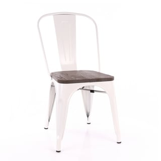 Amalfi Cream and Elm Wood Steel Side Chair (Set of 4)