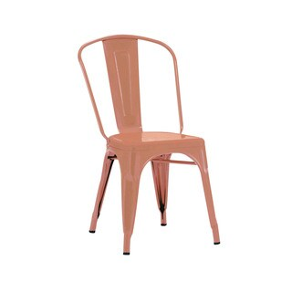 Amalfi Matte Copper Steel Side Chair (Set of 4)