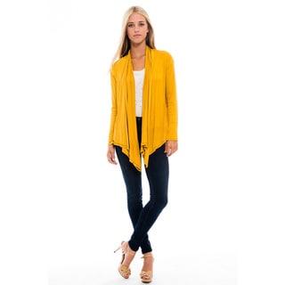 Women's Mustard Open Cardigan