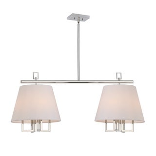 Crystorama Libby Langdon Westwood Collection 8-light Polished Nickel Pendant