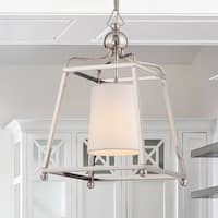 1-light Polished Nickel Pendant w/Shade