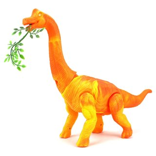 Dino Kingdom Plastic Brachiosaurus Walking Toy Dinosaur Figure (Colors May Vary)