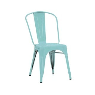Amalfi Matte Cyan Steel Side Chair (Set of 4)