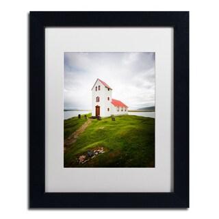 Philippe Sainte-Laudy 'Icelandic Church' Matted Framed Art
