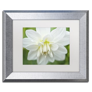 Cora Niele 'White Dahlia' Matted Framed Art