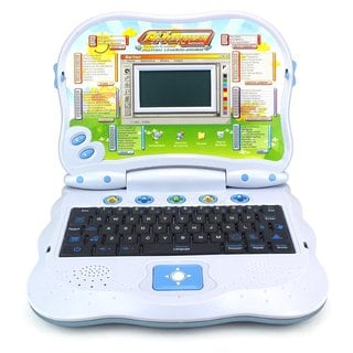 Velocity Toys 2-in-1 Bilingual Study Machine Educational Laptop Toy