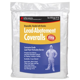 Buffalo 68444 3XL Disposable Lead Abatement Coveralls