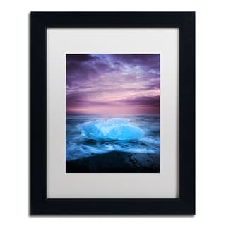 Philippe Sainte-Laudy 'Ice at Sunset' Matted Framed Art