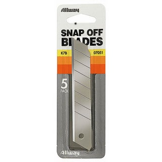 Allway Tools K7B 5-count 18MM Snap Off Blades