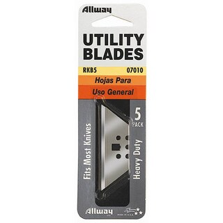 Allway Tools RKB5 5-count 3 Notch Utility Knife Blades