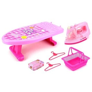 Velocity Toys Pink Mini Ironing Board Playset