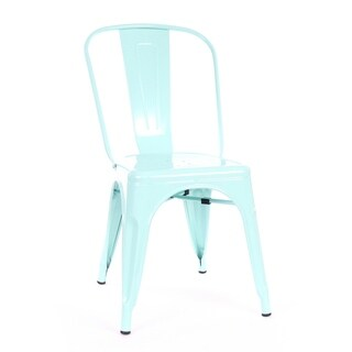 Amalfi Matte Mint Steel Side Chair (Set of 4)