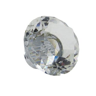Crystal Glass 1-inch Diamond-shaped Knobs (Pack of 6)