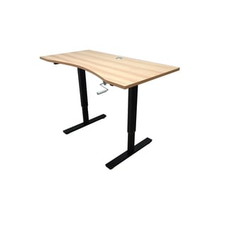 Ergomax Metal/Wood Adjustable-height Crank Desk