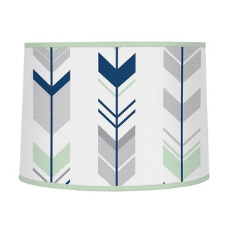 Sweet Jojo Designs Grey and Mint Fabric Mod Arrow Large Lamp Shade