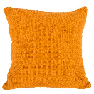 Orange Cotton 18-inch x 18-inch Throw Pillow