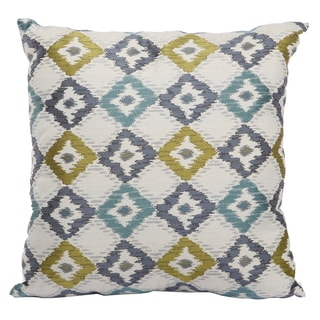Polyester 20-inches x 20-inches Jacquard Woven Throw Pillow